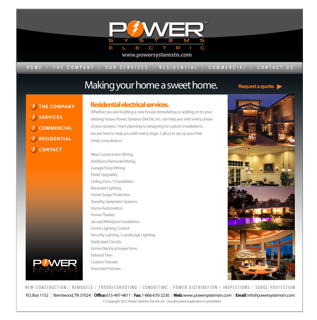 Power Systems Electric Tennessees Electrical Service Company New Construction Wiring Home Theater